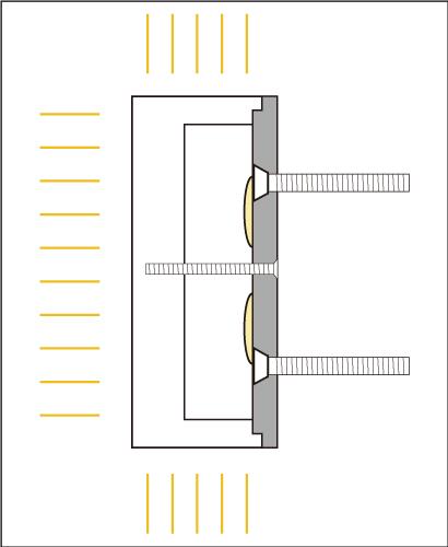 樹脂チャンネル文字表面側面発光